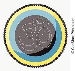 Aum Symbol Vector Design