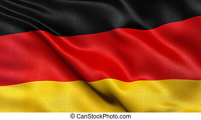 Flag of Germany in the wind