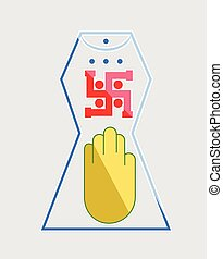 Shiny Jainism Symbol Vector Illustration