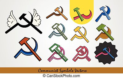 Set of Communist Symbols Vector Designs