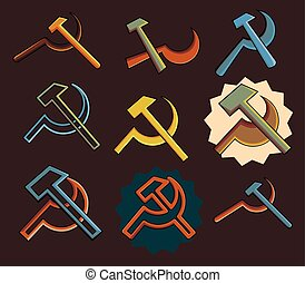 Communist Symbols Vector Set Designs Collection