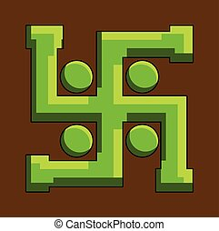 Swastika Vector Symbol Design Art