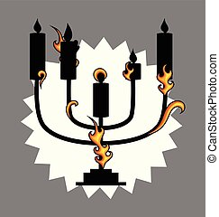 Menorah Vector Design Element