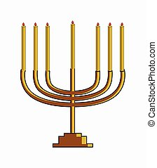 Chanukah Symbol Vector Illustration Design