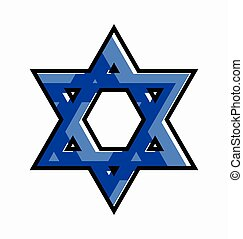 Star of David Symbol Vector Illustration