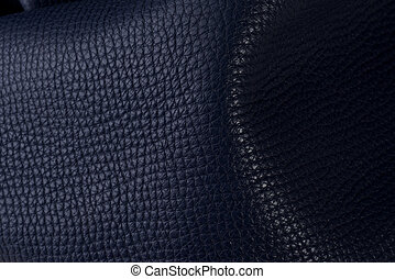 Closeup of leather material