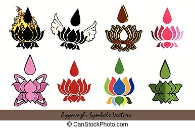 Ayyavazhi Symbols Vector Set Designs