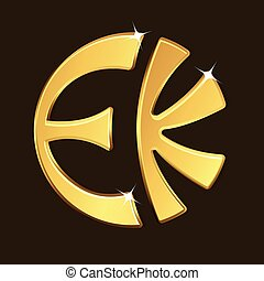 Golden Eckankar Symbol Vector Illustration