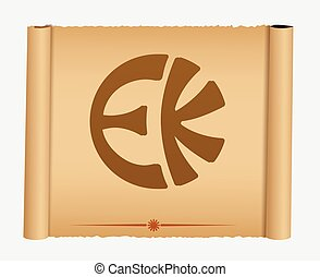 Eckankar Parchment Banner Vector Illustration