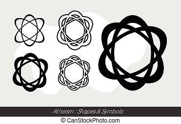 Atheistic Symbols Vector Illustration