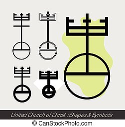 United Church of Christ Symbols Vector Illustration