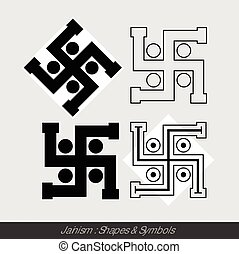 Swastik - Hindu Symbols Vector Illustration