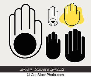 Religious Jainism Symbol Vector Illustration