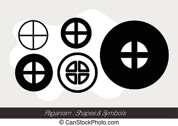 Paganism Symbols Vector Illuatration