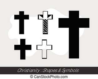 Christianity Symbols Vector Illustration