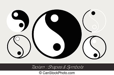 Taoism Symbols Vector Illustration Designs