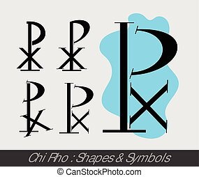 Chi-Rho Symbols Vector Illustration