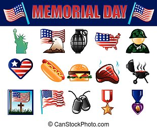 Memorial Day icons