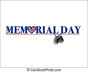 Memorial Day Text - Colorful Memorial Day Text