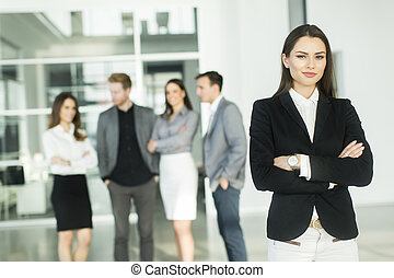 Modern young business people in the office - Young...