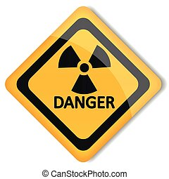 Vector illustration label radiation hazard