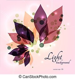 Magical glowing floral background