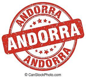 Andorra red grunge round vintage rubber stamp