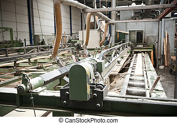 Lumber industry - Production line in a sawmill