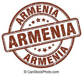 Armenia brown grunge round vintage rubber stamp