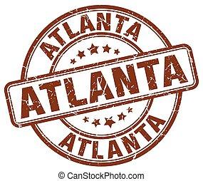 Atlanta brown grunge round vintage rubber stamp