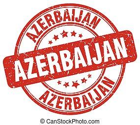 Azerbaijan red grunge round vintage rubber stamp