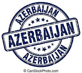 Azerbaijan blue grunge round vintage rubber stamp