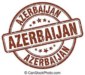 Azerbaijan brown grunge round vintage rubber stamp