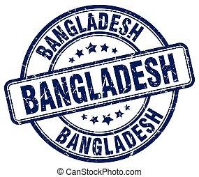 Bangladesh blue grunge round vintage rubber stamp