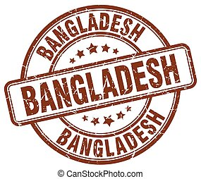 Bangladesh brown grunge round vintage rubber stamp