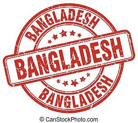 Bangladesh red grunge round vintage rubber stamp
