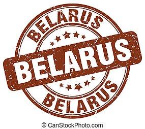 Belarus brown grunge round vintage rubber stamp
