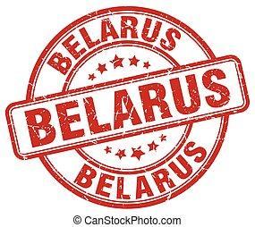 Belarus red grunge round vintage rubber stamp