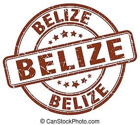 Belize brown grunge round vintage rubber stamp