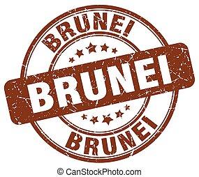 Brunei brown grunge round vintage rubber stamp