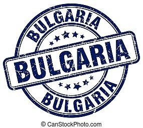 Bulgaria blue grunge round vintage rubber stamp