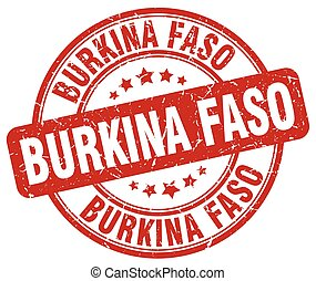 Burkina Faso red grunge round vintage rubber stamp