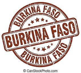 Burkina Faso brown grunge round vintage rubber stamp