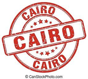 Cairo red grunge round vintage rubber stamp