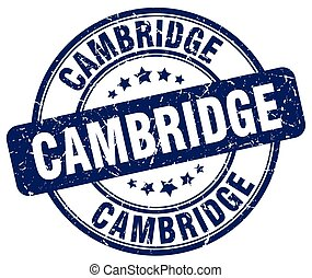 Cambridge blue grunge round vintage rubber stamp
