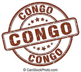 Congo brown grunge round vintage rubber stamp