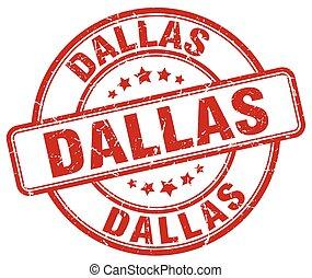 Dallas red grunge round vintage rubber stamp