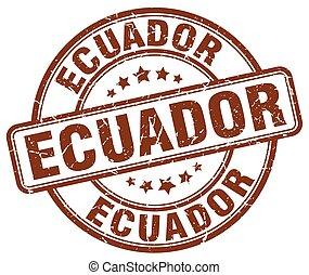 Ecuador brown grunge round vintage rubber stamp