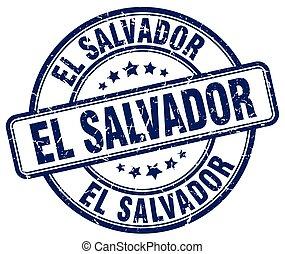 El Salvador blue grunge round vintage rubber stamp