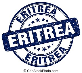 Eritrea blue grunge round vintage rubber stamp